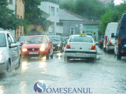 someseanul-ploi torentiale inundatii dej (6)