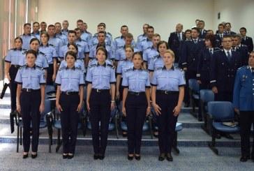 Cei 31 de agenţi de poliţie care au promovat examenele de încadrare din sursă externă, și-au depus Jurământul – FOTO