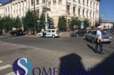 Accident pe strada Liviu Rebreanu din Gherla. Două autoturisme s-au tamponat – FOTO