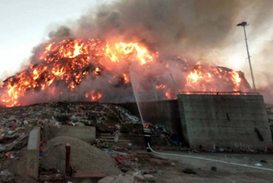 Incendiul de la rampa de gunoi a Clujului, stins de pompieri după 19 ore – FOTO