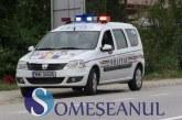 Scandal pe strada Clujului din Gherla. Șoferul unui TIR din Germania și șoferul unui autocar din Bistrița s-au luat la ceartă, după o șicanare în trafic