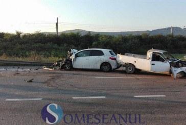 Accident cu trei mașini implicate în Livada. Traficul între Dej și Cluj a fost blocat – FOTO