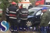 Accident la Gherla. O autoutilitară și un Audi s-au ciocnit violent – FOTO/VIDEO