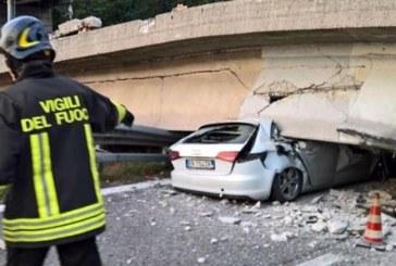 Imagini cutremurătoare: Un TIR condus de un român s-a prăbușit cu tot cu pod peste mașini: un mort și șapte răniți