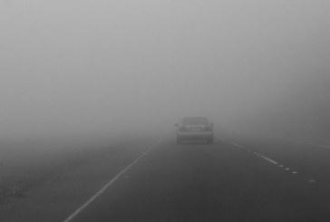 Cod galben de ceață în 10 județe din Transilvania și Dobrogea
