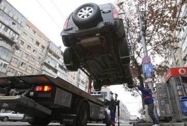 Maşinile parcate neregulamentar pot fi ridicate din nou