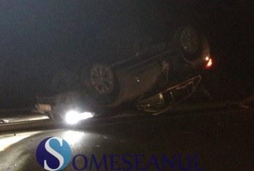 Impact violent între două BMW-uri la Apahida. Ambele mașini s-au răsturnat – FOTO/VIDEO