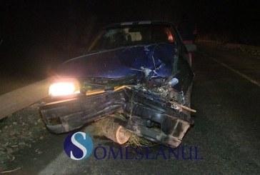 Accident la ieșire din Gherla. O căruță a fost lovită de mașină – FOTO/VIDEO