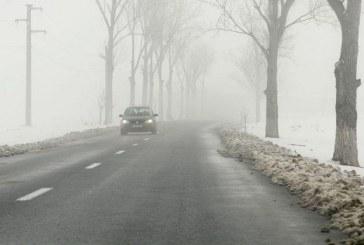 Cod galben de ceață în următoarele ore