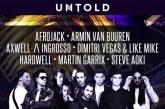 UNTOLD 2017 –Afrojack, Armin van Buuren, Axwell& Ingrosso, Dimitri Vegas & Like Mike, Hardwell, Martin Garrix, şi Steve Aoki, vin în vară la Cluj-Napoca