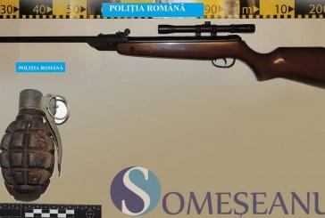 O grenadă și o armă găsite de polițiști la o femeie din Bistrița