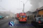 Incendiu violent la o casă de pe strada Traian Vuia din Cluj – FOTO/VIDEO
