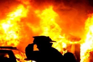 Explozie provocată de o acumulare de gaze, urmată de incendiu – VIDEO