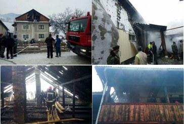 Incendiu de proporții în Șanț. 100 de persoane, pompieri și localnici, au sărit să stingă flăcările – FOTO