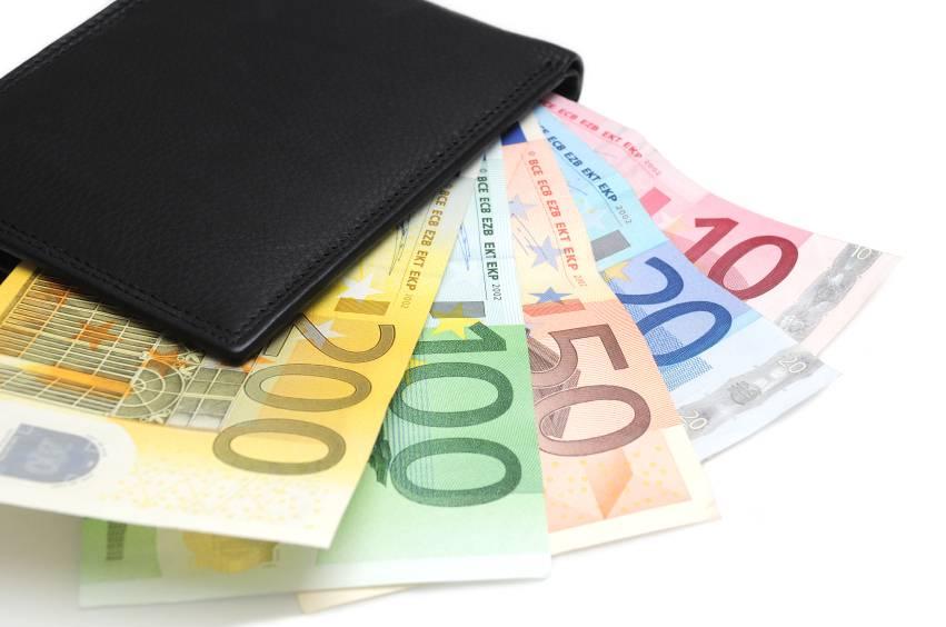 portofel euro bani