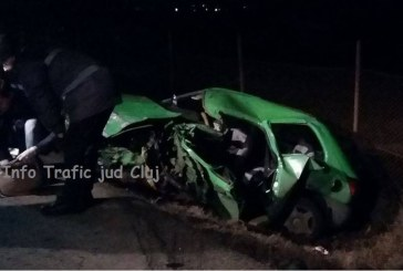 Accident teribil pe centura Cluj-Apahida. O mașină s-a făcut zob după impactul cu un TIR