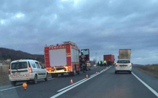 accident camion masina gilau dn1 (2)