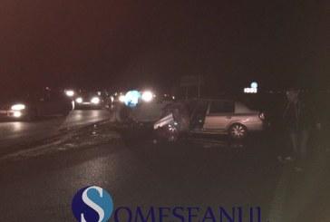 Accident rutier pe centura Apahida. O mașină s-a răsturnat – FOTO