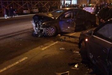 Șapte dintr-o lovitură! Mașini distruse și patru victime într-un accident în Cluj-Napoca – FOTO