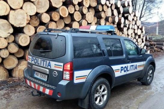 Șapte societăți comerciale verificate de polițiști, pentru prevenirea delictelor silvice