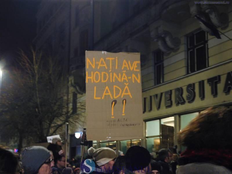 hodina in lada protest cluj