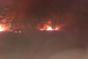 Trei incendii de vegetație uscată în Sălaj, într-o singură zi