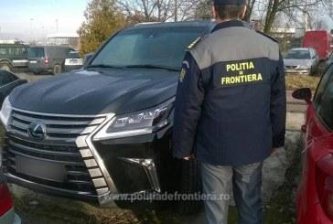 Lexus în valoare de 160.000 euro, furat din Rusia și depistat la Petea