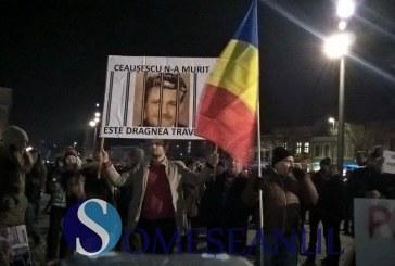 Peste 30.000 de protestatari au ieșit în stradă la Cluj – FOTO/VIDEO