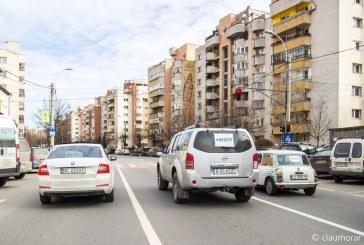 """Protest prin nesupunere civică, la Cluj. Șoferii au circulat cu 5km/h: """"Nu ne grăbim, că doar suntem de la Cluj"""" – VIDEO"""