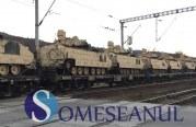 Zeci de tancuri și vehicule al armatei americane au trecut prin Gherla – FOTO/VIDEO