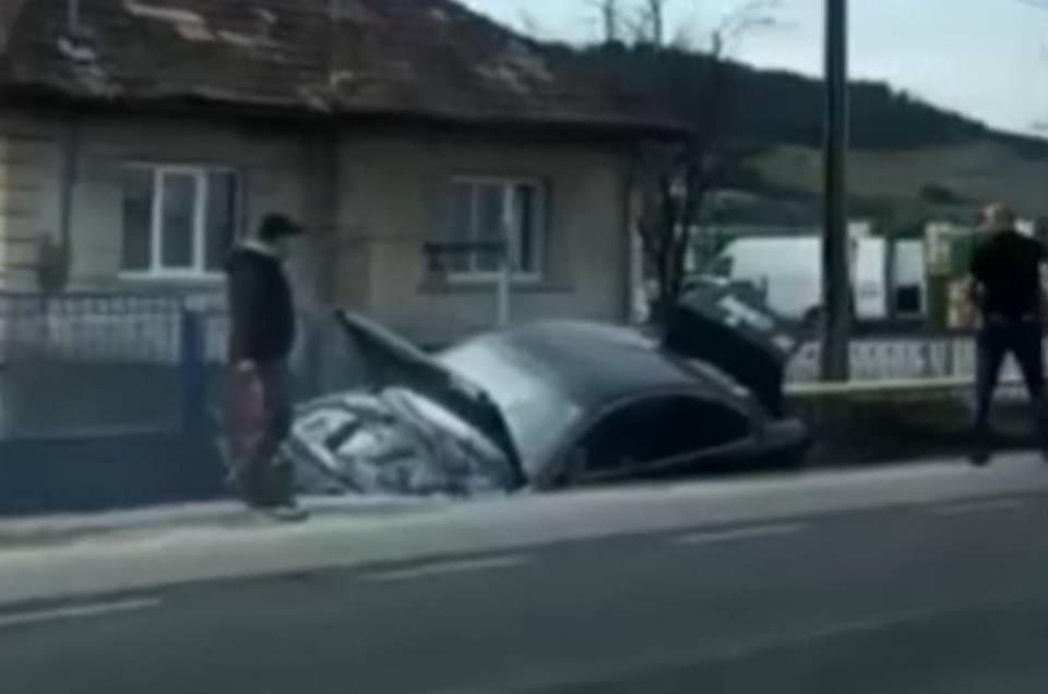 accident dej masina in sant
