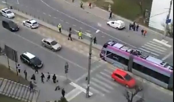 accident tramvai cluj