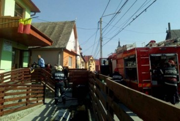 Grădiniță evacuată în Rebrișoara, din cauza unui incendiu – VIDEO