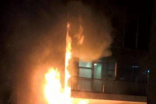 VIDEO – Incendiu puternic la sediul televiziunii Digi24 și a companiei RCS-RDS