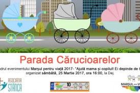 Marșul pentru viață și parada cărucioarelor, sâmbătă la Dej