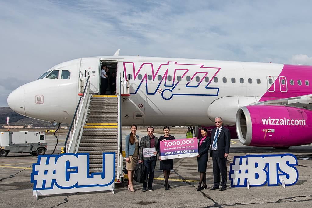 pasager 7 milioane wizz air aeroport cluj