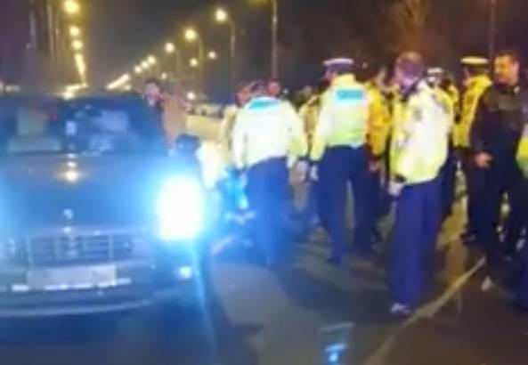sofer porsche vs politisti inarmati bucuresti