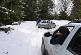 Doi turişti blocaţi pe drumul spre Valea Blaznei, sprijiniţi de jandarmii montani Rodna