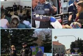 Peste o mie de elevi din Dej au putut fi polițiști pentru o zi în cadrul caravanei IPJ Cluj – VIDEO