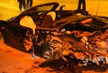A scăpat decapotabila de sub control și a lovit o altă mașină. Două persoane rănite grav – VIDEO