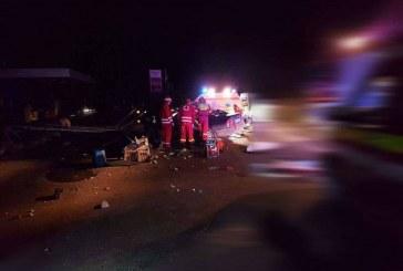 Accident teribil în Telciu. Cinci persoane încarcerate, patru fiind declarate decedate – FOTO