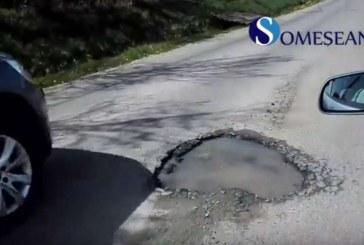 Drumul județean care tranzitează complexul de lacuri Țaga-Geaca a intrat în reparații