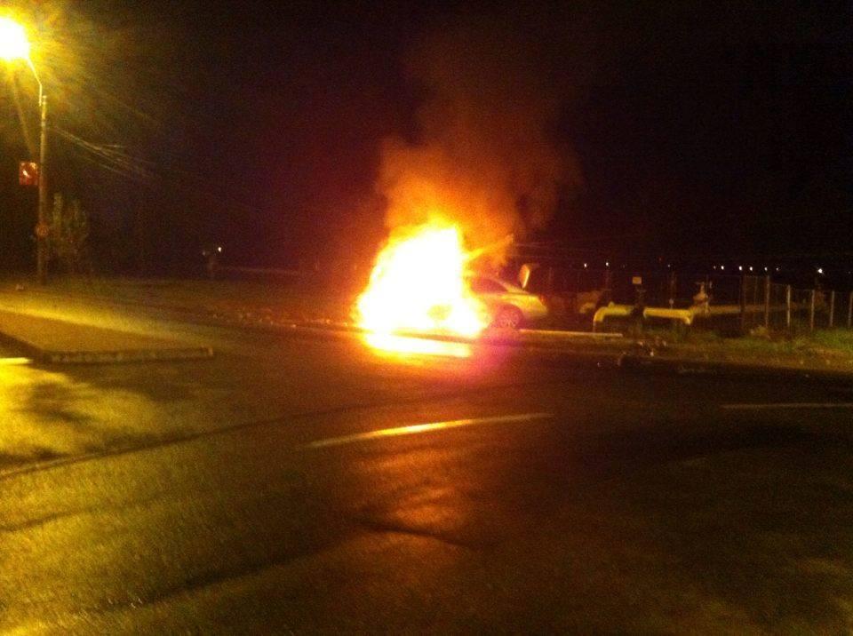 masina incendiata baia mare accident