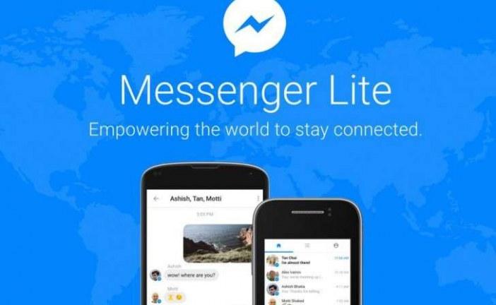 Aplicaţia Facebook,  Messenger Lite, disponibilă oficial şi în România
