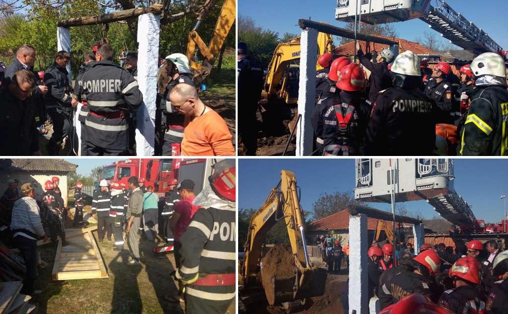 operatiune salvare copil cazut in put Balta Sarata Teleorman