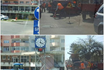 Dejul se pregătește de sărbătoare: plombarea gropilor, marcaje rutiere și toaletarea vegetației