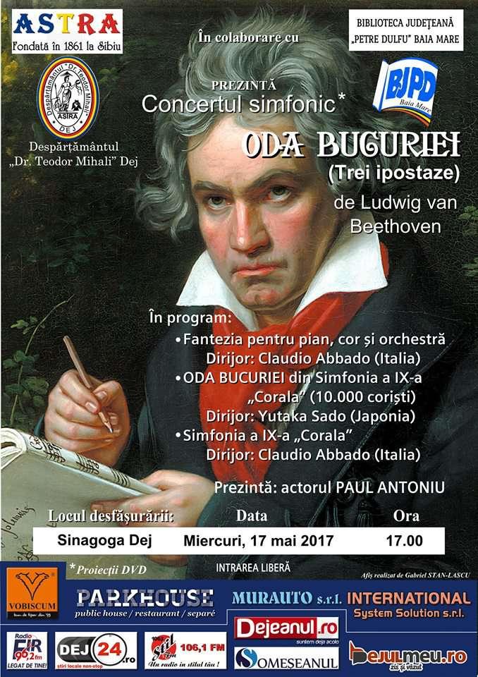 """Concert simfonic la Sinagoga Dej: """"Oda bucuriei"""" – Ludwig van Beethoven"""