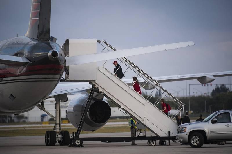 DonaldTrump-avion-aeroport