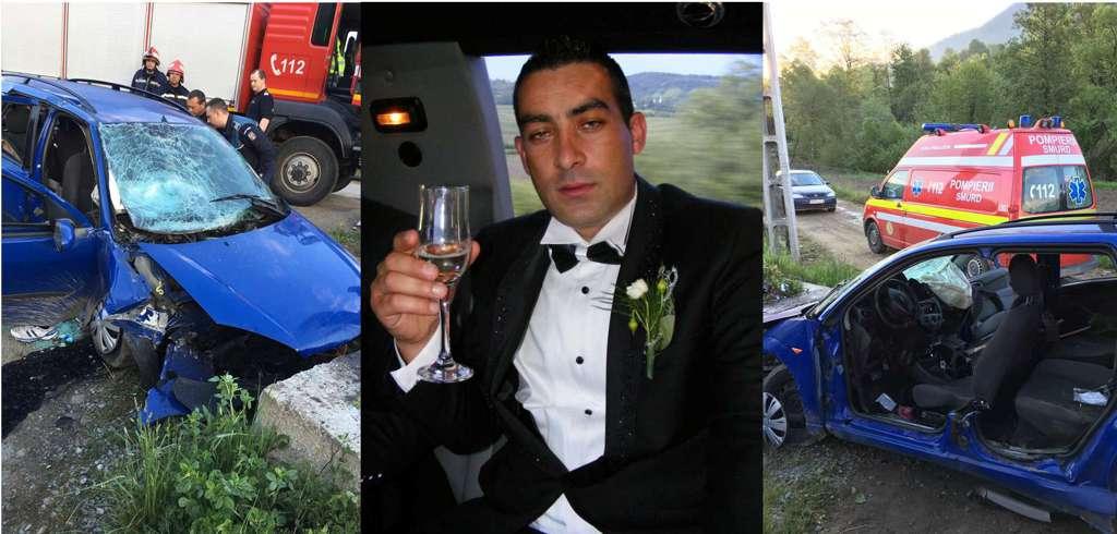 Maneliști celebri, morți în urma unui accident la Anieș. Alin de la Bistrița a intrat cu mașina într-un monument de beton – FOTO