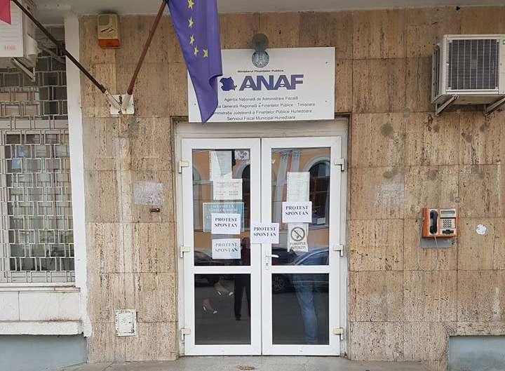 greva protest spontan finante ANAF
